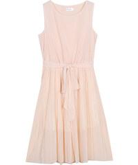 Lesara Ärmelloses Kleid mit Taillenband - Orange - S