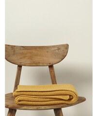 Cyrillus Plaid en laine mélangée - jaune
