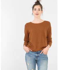 Pull col rond caramel, Femme, Taille L -PIMKIE- MODE FEMME