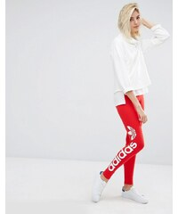 Adidas Originals - Leggings avec logo oversize - Rouge