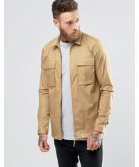 ASOS - Veste-chemise militaire zippée - Beige - Beige
