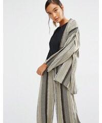 First & I - Veste de kimono imprimée - Vert