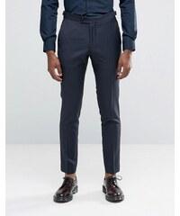 Hart Hollywood by Nick Hart - Pantalon de costume slim texturé - Bleu marine