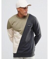 Nicce London - Sweatshirt mit Blockfarben - Grau