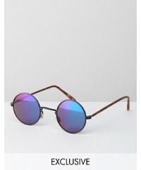 Reclaimed Vintage - Runde Sonnenbrille - Schwarz