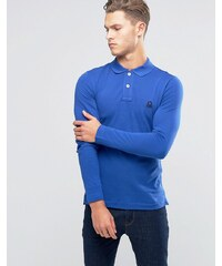United Colors of Benetton - Langärmliges Muskel-Polohemd - Blau