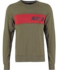 Nike SB EVERETT Sweatshirt cargo khaki/dark cayenne/black