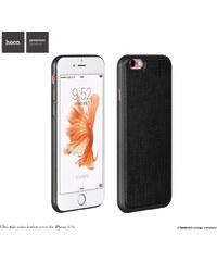 Pouzdro / kryt pro Apple iPhone 6 / 6S - Hoco, LeatherCover Black - VÝPRODEJ