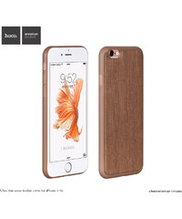 Pouzdro / kryt pro Apple iPhone 6 / 6S - Hoco, LeatherCover Brown - VÝPRODEJ