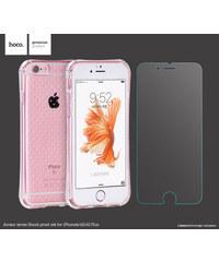 Pouzdro / kryt pro Apple iPhone 6 / 6S - Hoco, ShockProof Clear + Sklo na displej