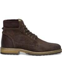 Eram Boots croûte de cuir marron
