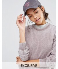 Adolescent Clothing - Brunch Club - Casquette de baseball brodée - Gris