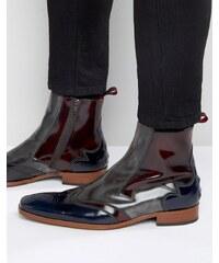 Jeffery West - Scarface - Lederstiefel mit Reißverschluss - Grau
