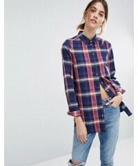 Vero Moda - Chemise à carreaux - Bleu marine
