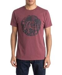 Pánské tričko Quiksilver Garm DYE TEE labyrinth logo wild ginger M