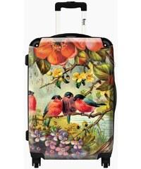 Ikase Valise Valise Fleurs oiseaux style ancien - Taille 55cm, 38L