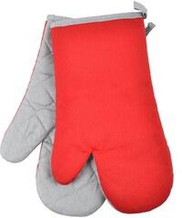 Kuchyňské bavlněné rukavice chňapky TERMO, červená, 18x30 cm , 100% BAVLNA Essex