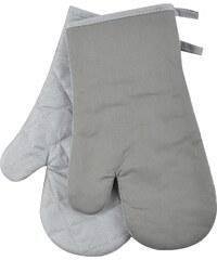 Kuchyňské bavlněné rukavice chňapky TERMO, stříbrná, 18x30 cm , 100% BAVLNA Essex