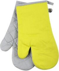 Kuchyňské bavlněné rukavice chňapky TERMO, limetková, 18x30 cm , 100% BAVLNA Essex