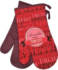 Kuchyňské bavlněné rukavice chňapky SPECIALITIES, červená, 100% bavlna 18x30 cm Essex