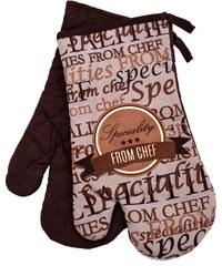Kuchyňské bavlněné rukavice chňapky SPECIALITIES, hnědá, 100% bavlna 18x30 cm Essex