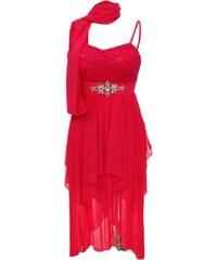 Made in Italy Dámské společenské šaty plus šála