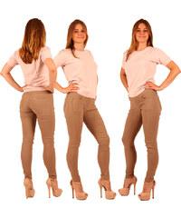 Lesara Treggings in Unifarbgebung - Beige - S
