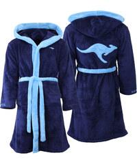 Kangaroos Bademantel mit Kapuze - Blau - S