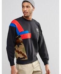 Adidas Originals - AY9277 - Sweat ras de cou style color block - Noir