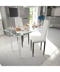 Bílé jídelní židle Slim, 2ks