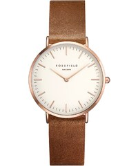 Rosefield The Tribeca White/Brown/Rosegold Uhr TWBRRC-T55