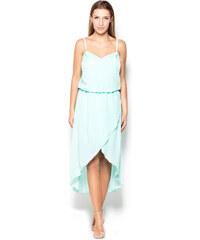 Katrus Letní dámské elegantní šaty K359 mint