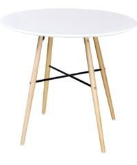 Skandinávský kulatý jídelní stůl, bílý