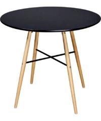 Skandinávský kulatý jídelní stůl, černý