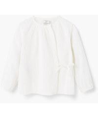 MANGO BABY Strukturiertes Baumwoll-T-Shirt