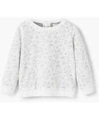 MANGO BABY Gemustertes Baumwoll-Sweatshirt