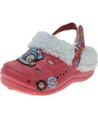 Beppi Dívčí sandály s kožíškem Baby Boop - červené