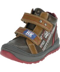 Beppi Chlapecké kotníkové boty s nápisy - hnědé