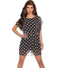 Ostatní Lehké šaty s puntíky černé