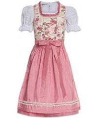 Distler Mädchen Bluse knöchellang rosa aus Baumwolle