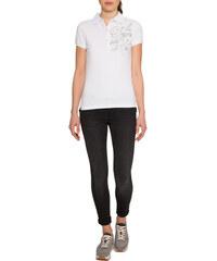 Bílé polo tričko s flitrovým nápisem|L Soccx 257404