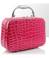 BMD kosmetický kufřík malý růžový krokodýl