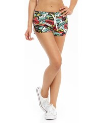 Lucky Dice Summer Girl Shorts Comics Multicolor