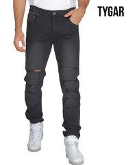TYGAR Slim Fit-Jeans mit Cut-Outs - W30-L32