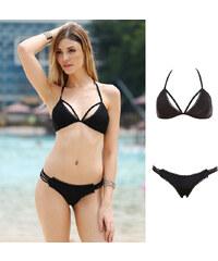 Lesara Neckholder-Bikini mit Spitze - S