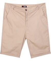 Re-Verse Chino-Shorts mit Beinumschlag - Beige - 31