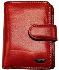 Famito Dámská kožená peněženka 4494 červená