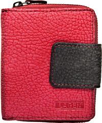 Lagen Dámská kožená peněženka 9500/W PINK/BLK