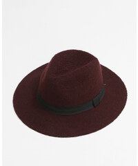 Chapeau fedora tricoté grenat, Femme, Taille M -PIMKIE- MODE FEMME