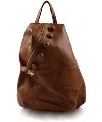 Dámský hnědý trendový batoh Dita Marlen 11000